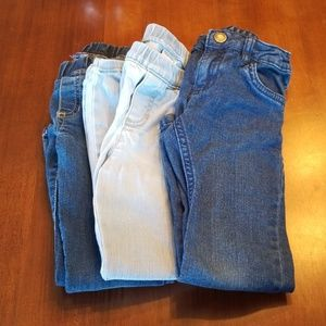Lot of 3 Carter's Size 5 Jeans